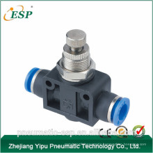 China pneumatic union straight speed controller plastic fittings
