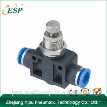 China união pneumática acessórios de plástico de controlador de velocidade em linha reta