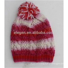Lady new design knitted Winter/Fall China factory Hats