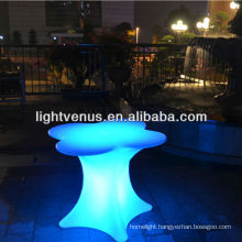 New Ipad control factory direct sale color changing rechargeable plastic outdoor bar furniture