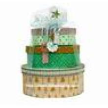 Caja de papel de embalaje de Navidad de lujo redondo