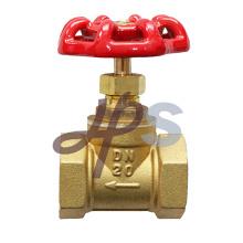 Válvula de parada de globo de latão com roda de aço