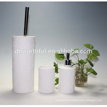 3pcs ceramic bathroom accessory set with toilet brush holder