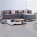 Convertible Chaise Sleeper Fabric Corner Sectional Sofa