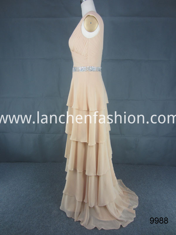 dress champagne side