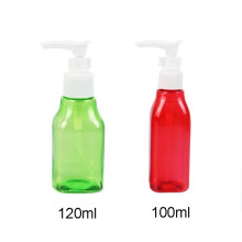 Small Pet Bottle with Lotion Pump 100ml, 120ml Liquid Shampoo Bottle (NB03)