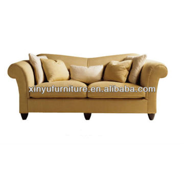 Modern two seater wooden fabric sofa XY2568