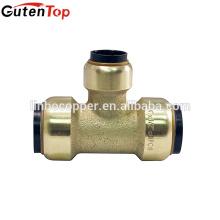 GutenTop Conector rápido de alta calidad Sin plomo Latón Push Fit Igual te tipo de mordida accesorios de latón