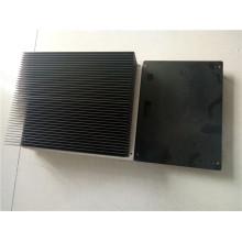 Aluminum Skiving Fin heat sink Black Anodizing