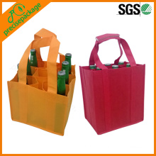 Reusable Non Woven Wine Bottle Bag with 9 Pack