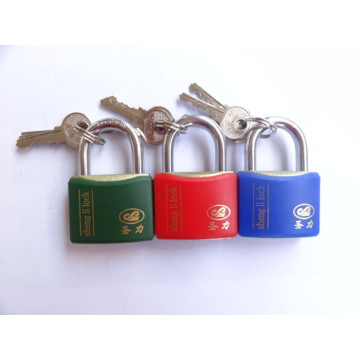 New Style Shengli Plastic Coated Iron Wire Drawing Finished Padlock