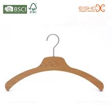 Eisho madeira natural laminado roupas cabides
