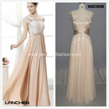 Women's Lace Satin Length Long Gown Dress