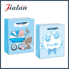 "210GSM Ivory Paper ""It′s a Boy"" Baby Gift Paper Bag"