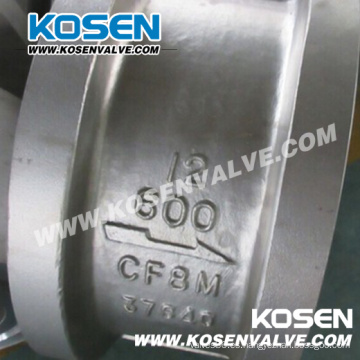 Válvula de retención de acero inoxidable con doble placa API Wafer (H76)