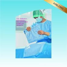 Vestido cirúrgico Use tecido não tecido