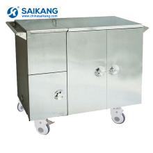 Chariot de traitement patient d'hôpital médical d'acier inoxydable de SKH012