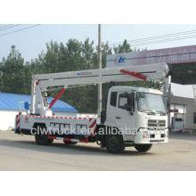 Dongfeng Tianjin 22m camión plataforma alta, 4x2 camión plataforma aérea