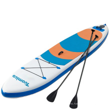 SUNGOOLE Surfboard Paddle Board Removable Central Fin with Telescopic Paddles, Suitable for Beginners