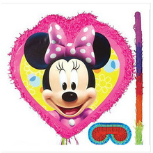 Venta al por mayor Minnie Mouse Party Supplies Mini Pinata para adultos