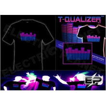 [Супер дело]оптом 2009 мода горячие продажа футболка А24,El футболки,LED футболки