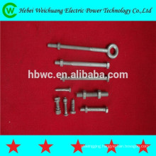 Grade 8.8 galvanized bolt threaded power fastener line hardware