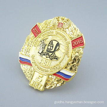 ShuangHua custom die casting metal russia badge