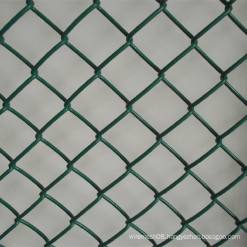 PVC Green Color Chain Link Mesh Fence