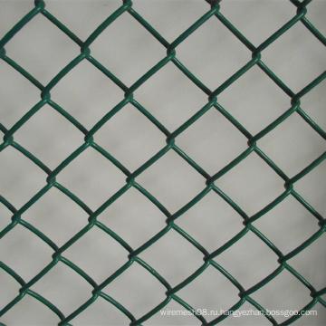 Зеленый цвет сетка звена цепи PVC Загородки