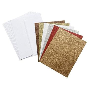 Reine Farben der verschiedenen Farben silbrige Goldglitter-Karten-Glitter-Papierkarte