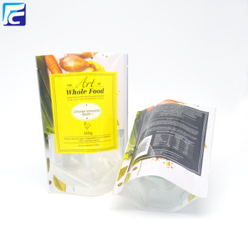 Stand up pouch aluminum foil transparent bag