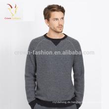 Großhandels-Soem-kundenspezifische neue Entwurfs-Kaschmir-Pullover-Mens-Strickjacke