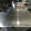 Hoja de aluminio de metal perforado de acero liso