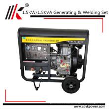 Générateur diesel de soudure de 1.5KW, soudeuse produisant toute la machine de soudure de générateur de soudeuse de bobine de cuivre diesel