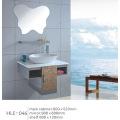 Con estante con espejo blanco encimera de acero inoxidable baño gabinete sanitario