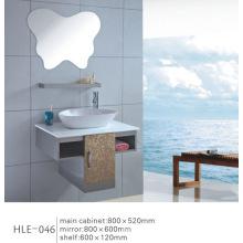 Mit Regal Gespiegelten weißen Zähler Top Edelstahl Badezimmer Sanitär Schrank