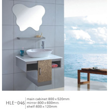 with Shelf Mirrored White Counter Top Stainless Steel Bathroom Sanitary Cabinet