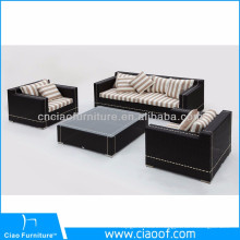 Hot Sell New Design Cheap Corner Rattan Sofa Furniture Black Rattan Sofa