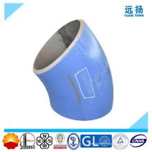 Coude en tuyau d'acier en alliage de qualité supérieure de 45 degrés