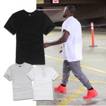T-shirt curto simples da luva Parte superior & T do pulôver do estilo simples