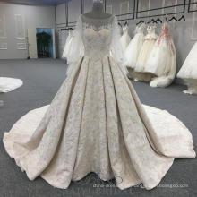 Puff Ärmel Perlen rosa Abendkleider Ballkleid elegante lange Abendkleider mit langen Zug