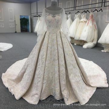 manches bouffantes perlées robes de soirée rose robe de bal élégante longues robes de soirée avec long train