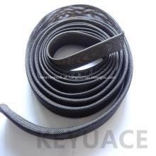Mangas de fio expansível trançado com PET flexível
