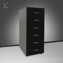 Hot sale 6 drawer cabinet knock down steel mobile drawer cabinet
