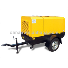 Trailer type electric portable screw air compressor 37kw