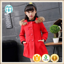 Mädchen Wintermäntel Bilder XMAS Mode rot beliebte Jacken Kleidung Kinder italienische Winter Mäntel Fell Hoodie Mädchen Mode Mantel