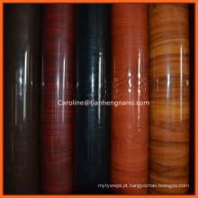 Cor de madeira de mármore decorativo 2016 Hot Wholesale PVC Film