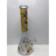 Bongs en verre de 7 mm avec des personnages de dessins animés Simpsons
