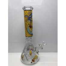 7mm Glass Beaker Bongs with Simpsons Cartoon Characters