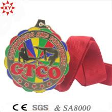 Gewohnheit Zink-Legierung Material Goldmedaille mit Malerei Farben